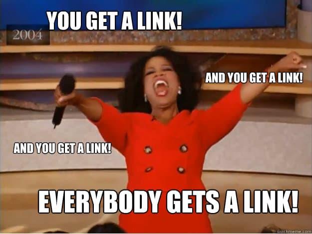 you get a link