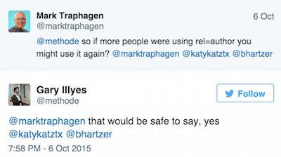 twitter conversation about authorship