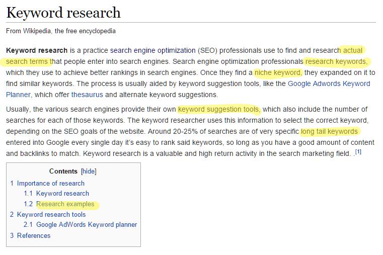 wiki keyword research