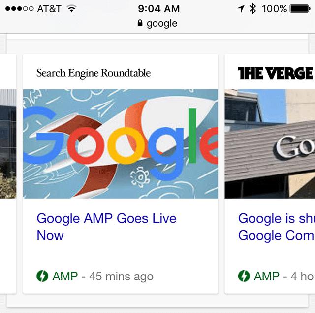 google amp carousel