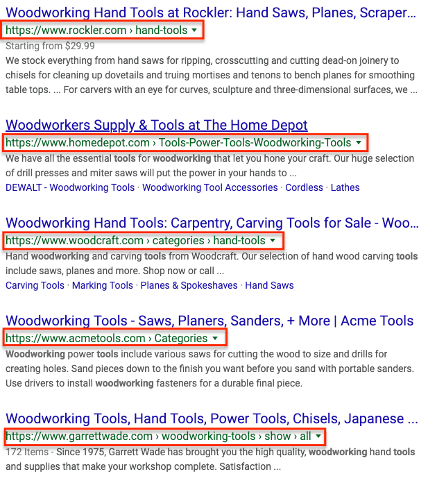 inner pages ranking instead of homepages