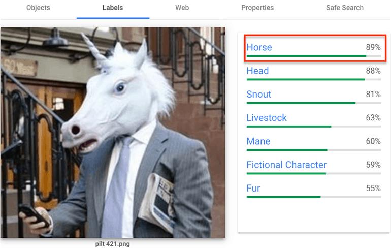testing the efficiency of googles understanding of images