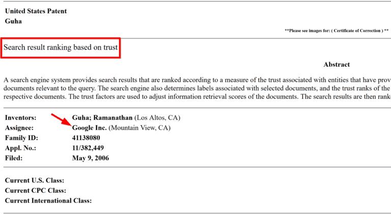 trustrank patent